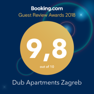 Dub Apartments Zagreb Guest Review Award Booking.com 2018